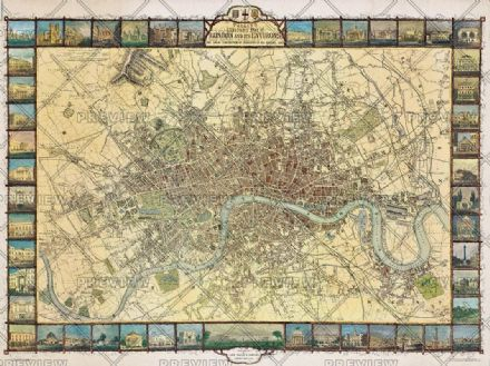 London Tallis 1851 by Oxford Cartographers
